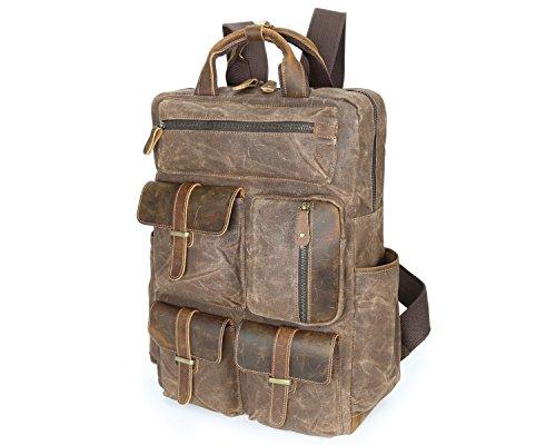 Cire Sac Travel Yqxr Brass En Sur Pour Toile amp; Plein Air Retro Shoulder Homme À Bandoulière Handbags Grand Huile Bags ZZRxwznqBg