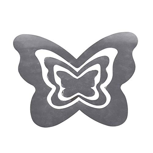 Butterfly Trio Art (Homeford Butterflies Reflection Trios Removable Wall Art Stickers, Silver, 3-Piece)