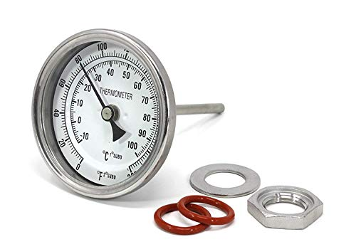 NOFDA Homebrew Kettle Beer Brewing Thermometer Homebrew Beer Bi-Metal Thermometer 3