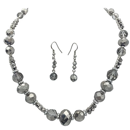 Beaded Glass Jewelry Set - 1