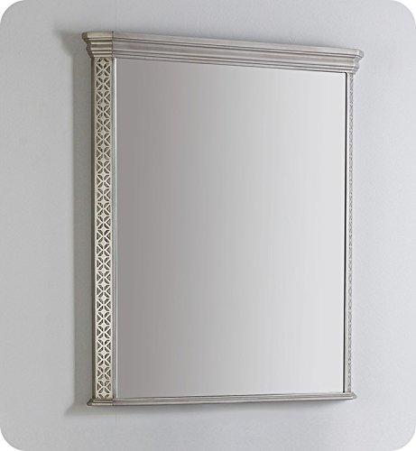 Fresca Platinum FPMR7524SA London 32'' Bathroom Mirror in Antique Silver w/ Fog-Free System by Fresca