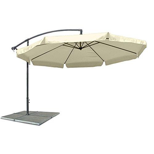 Ampelschirm-Sonnenschirm-mit-300-cm-Durchmesser-in-beige-Material-Polyester-160G-wasserabweisend-Metallstreben-Neigungswinkel-verstellbar-mit-Kurbelsystem