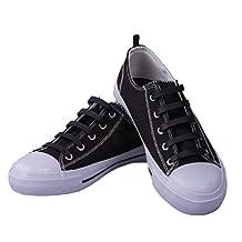 Premium Black No-Tie Silicone Shoe Laces - One Size Fits All - 20 Piece Bundle Pack
