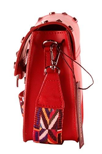 y Italy correa Made de con tachuelas 100 de colores Mujer ARIANNA pequeña bolso BORDERLINE in cuero Rojo de hombro t4pv7qxwx