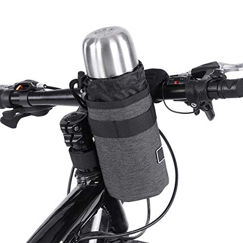 Bicycle Bottle Bag Bicycle Handlebar Front Tube Bag Cycle Bike Kettle Insulate Bag Bike Water Bottle Pocket Bike Accessories,Dark Grey