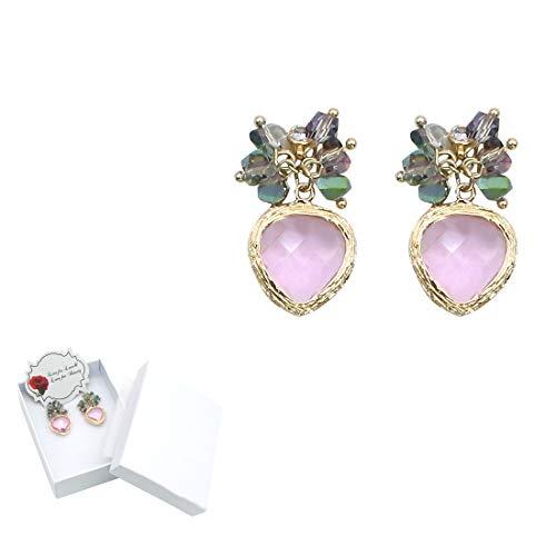 GrLeaf Drop Dangle Earrings Brass Hypoallergenic Fashion for Women Girls (1 pair)