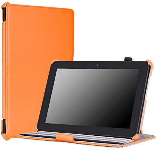 """MoKo Case for Amazon All-New Kindle Fire HDX 8.9"""" - Slim-Fit Multi-angle Stand Cover Case for Kindle Fire HDX 8.9 Inch 2014 Generation and 2013 Gen Tablet, ORANGE"""