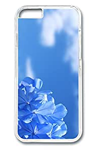 iPhone 6 plus Case, 6 plus Case - Crystal Clear Protective Hard Case for iPhone 6 plus Pure Blue Flowers Anti-Scratch Clear Hard Back Case for iPhone 6 plus 5.5 Inches