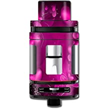 Skin Decal Vinyl Wrap for Smok Mini TFV8 Big Baby Beast Tank Vape Mod stickers skins cover / Pink Hearts Flowers