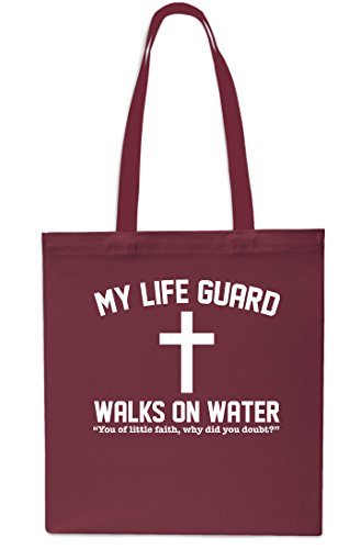 Gym Maroon My Walks Tote x38cm Beach Shopping Black Water On Small Bag litrest 42cm 10 Lifegaurd YqxUCYZ