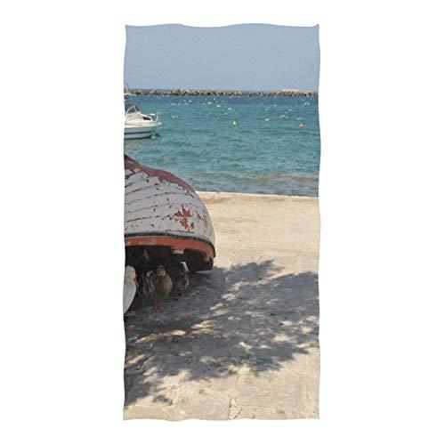 Beach Towel Ducks Siesta Timr Noon Time Hot Summer Beach Blanket Towel 74 x 37 Inch for Travel Pool Swimming Bath Camping Yoga Gym Sports (Water Time Picnic Siesta)