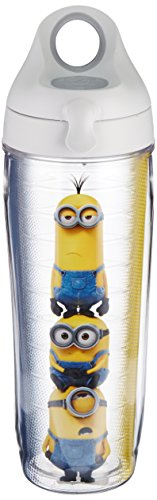 Tervis 1186997 Minions Stack Tumbler Water Bottle, 24 oz, Clear