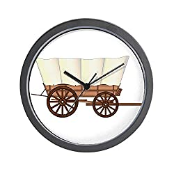 CafePress Covered Wagon Wheel Unique Decorative 10 Wall Clock