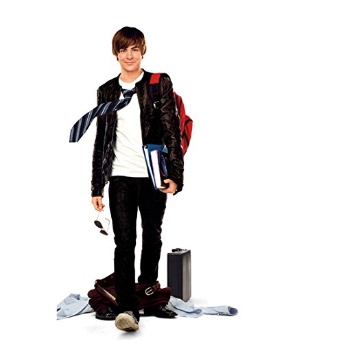 17 Again 8 inch x 10 inch PHOTOGRAPH Zac Efron Black Leather Jacket Carrying Books Small Smile - Efron Zac Small