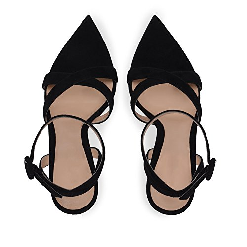 Sandals Strappy Shoes ZPL High Strap Toe Peep EU36 UK4 Heel Womens Ankle Stiletto Ladies wXXqnTIxp6