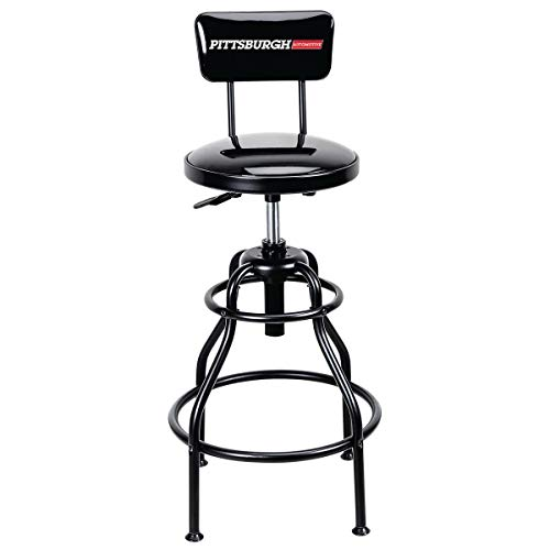 Adjustable Shop Stool with Backrest 275 lb Capacity by Pitt (Image #5)