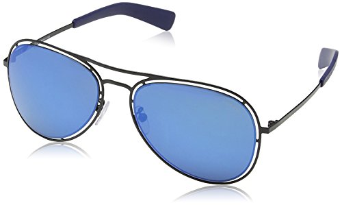 Police - Lunette de soleil S8960 Offside 3 Aviator SEMI-MATT BLACK FRAME    BLUE dcc2fc6e88e3