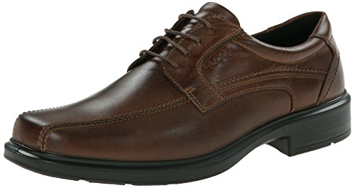 ECCO Men's Helsinki Bike Toe Tie Oxford, Cocoa Brown, 44 EU/10-10.5 M -