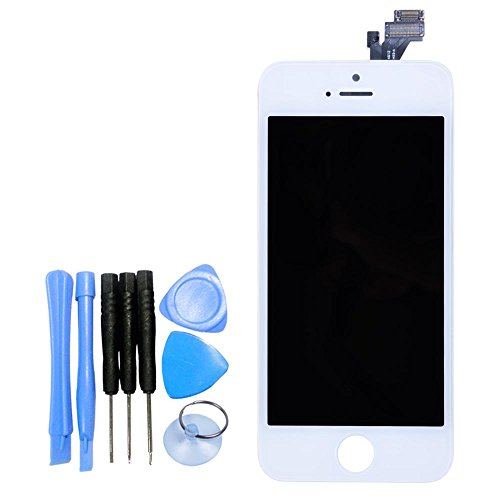 Generic Replacement LCD Touch Screen Assembly for Iphone 5 White (Iphone5 Glass Repair Kit White compare prices)
