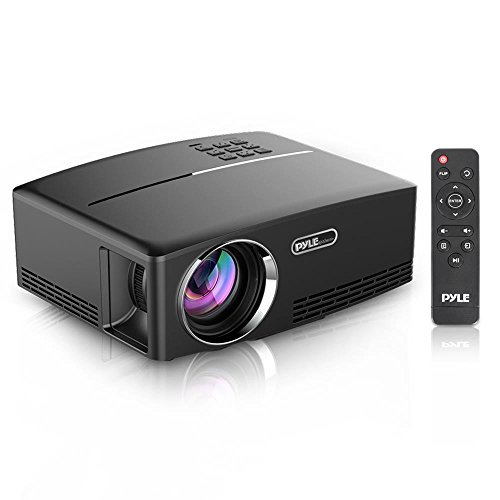 Digital Cinema Media - Pyle Multimedia Home Theater Projector - Portable HD 1080p LED with USB HDMI Digital Data System Projection for Entertainment Video Photo Game Full Cinema Movie in Your Laptop - PRJG98