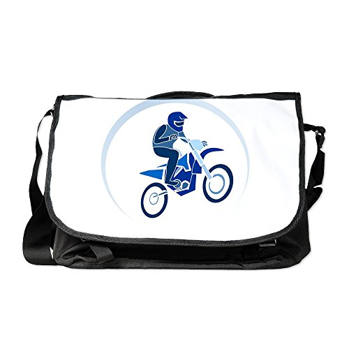 - Truly Teague Laptop Notebook Messenger Bag Motocross MX Flying Dirt Bike in Blue