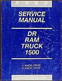 2002 Dodge Ram 1500 Pickup Truck Repair Shop Manual Original