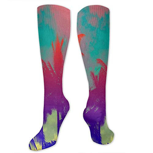 Compression Socks Tropical Coconut Palms Womens Winter Sock Decoration Tight Stocking For Girls Men Boys Teen