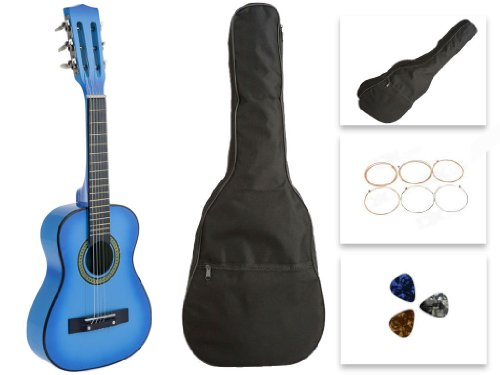 Star Kids Acoustic Toy Guitar 27 Inches Light Blue with Bag, Strings & Picks, CG621-BSP-LBL (Light Blue Acoustic Guitar compare prices)