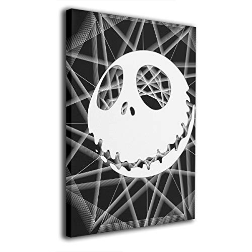 Zong Ten 12 X 16 Inch Paintings Nightmare Before Christmas Jack Skellington Contemporary Artwork Abstract Art Wall Art Living Room Artwork On Canvas Ready to Hang Framed Art Bedroom Living Room ()