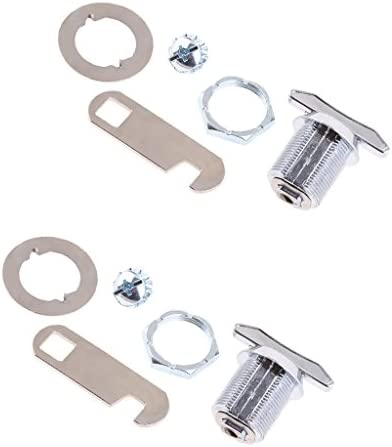 B Baosity ユニバーサル キーレス キャビネット デスク 高品質 カム錠 自動車 ターンロック ハンドル付き 全2選択 - 20mm