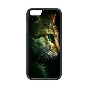 IPhone 6 Plus Case, Cat in the Dark Case for IPhone 6 Plus {Black}