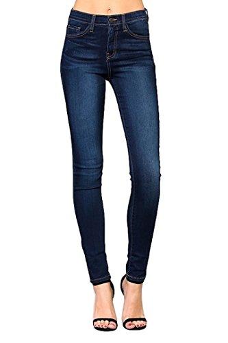 Flying Monkey Blue Babe High Rise Dark Wash Super Soft Skinny Jeans Y1007 (24, Dark Wash)