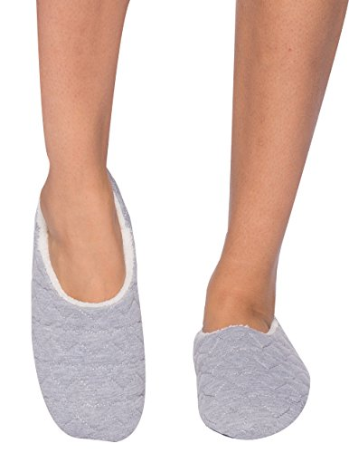 Women's Lining Noble with Slipper Hearts Quilted Grey Shearling Mount Heather 55Pxq0wr