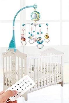 Koowaa Colgante giratorio para cama de bebé, campana musical, cuna móvil con luces e historia musical, proyector, campana, juguetes, cuna para bebé, música, campana, proyección, juguete de regalo