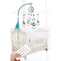 Koowaa Hängande roterande baby säng klocka musikal spjälsäng mobil med ljus och musikberättelse projektor sängklocka…