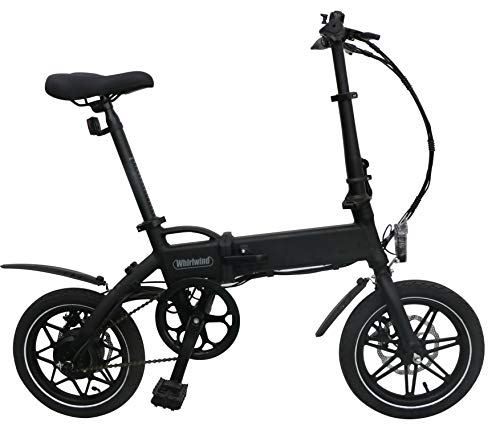 Whirlwind C4 Lightweight 250W Electric Foldable Pedal Assist E-Bike with LG Battery, UK Made – Black