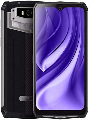 Blackview BV9100 (2019) IP68 Móvil Todoterreno Antigolpes, Batería 13000 mAh (60 días En Espera), 6.3 Pulgadas FHD +, Android 9.0, Octa Core 4GB+64GB, Carga Rápida de 30W, 16MP + 16MP NFC OTG Plata