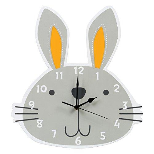 Trend Lab Bunny Wall Clock, Gray