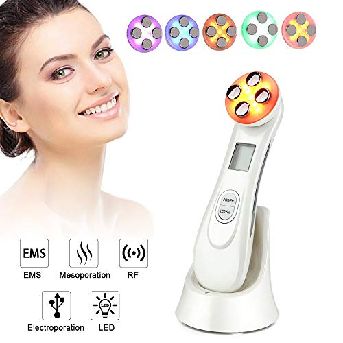 RF Face Massager EMS Radio Frequency Machine Multifunctional Color Modes Facial Beauty Face Skin care Device Wrinkle Removal Beauty Skin Care Instrument with Smart Display Meifuly