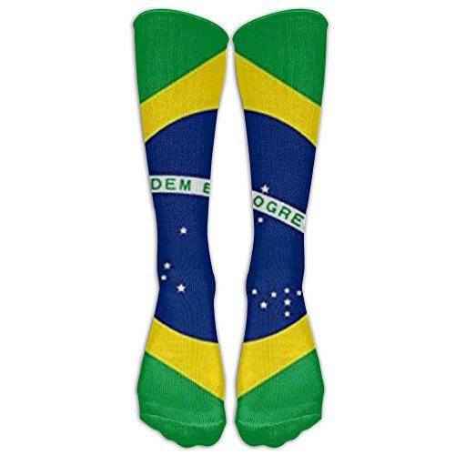 - NEW Brazil Polyester Flag Athletic Tube Stockings Women's Men's Classics Knee High Socks Sport Long Sock One Size