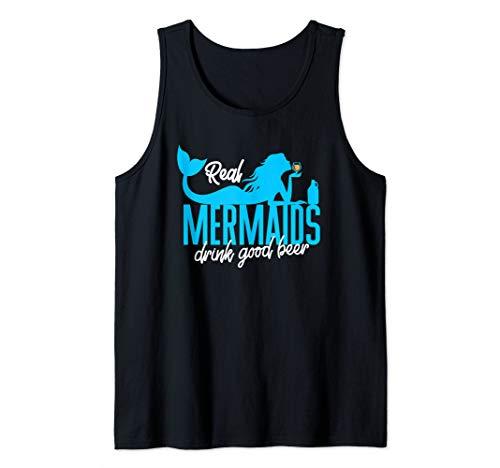 Real Mermaids Drink Good Beer Summer Beach Vacation Vacay Tank Top