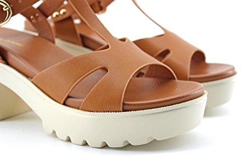 Modelisa Liquidación Tacon En Plataforma Mujer Sandalia Camel China vm8wN0ynOP