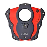 Colibri CUT Guillotine-Style Cigar Cutter - Black/Red
