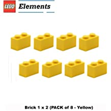 Lego Parts: Brick 1 x 2 (PACK of 8 - Yellow)