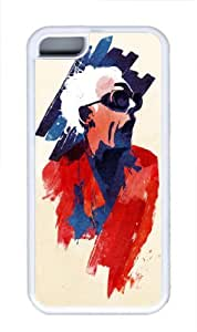 MMZ DIY PHONE CASEUnique Design Illustration Art Painting - Doc Custom Protective Soft TPU Back Case Cover for iphone 4/4s (White) -52102