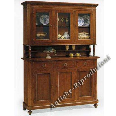 Möbel Buffet, Buffetschrank, Küchenbuffet, 3 Türen cm 158x47, h 103, oben Teil cm 157x43, h 110