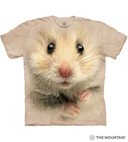 The Mountain Hamster Face Adult T-Shirt, Tan, -