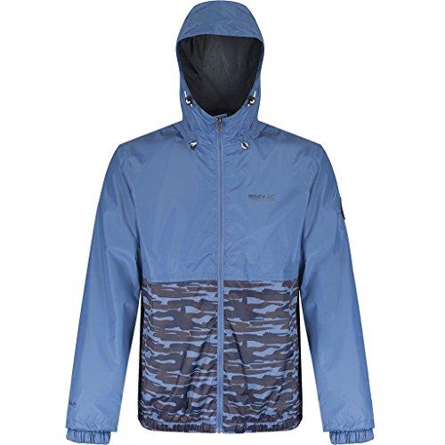 Regatta Mens AKKA ISOLITE Waterproof Full Zip Breathable Jacket Stellar Camo XL ()