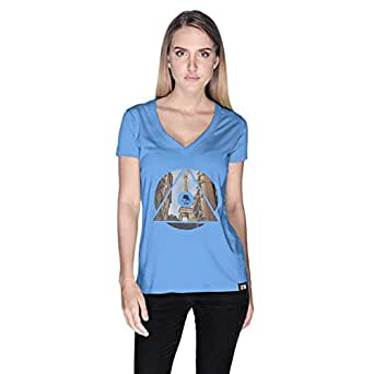 Creo Paris T-Shirt For Women - M, Blue