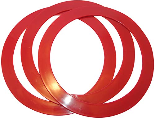 Higgins Brothers Juggling Rings Set of 3 Professional Style (Cherry Red)]()